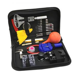 27pcs Kit de herramientas de reloj útil para el kit de herramientas de reparación de relojes Piezas abridor Enlace removedor de pasadores Barra de resorte Saat Tamir Aletleri