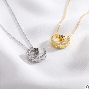 S925sterling silberne Halskette Schmuck für Frauen Sternmond Halskette einfacher heiße Art und Weise frei von Versand