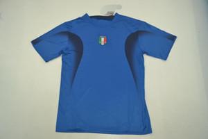 TOP QUAITY Jersey Italia 2006 hombres talla jersey HOME azul Retro Jersey clásico GROSSO TOTTI PIRLO CANNAVARO DEL PIERO MATERAZZI