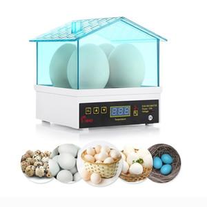 4 huevos Mini eléctrico automático inteligente de la Incubadora del huevo de termostato de control de temperatura para el pollo pato huevo de aves TB Caldera