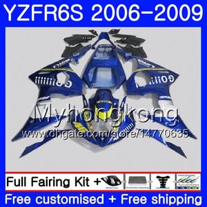 Боди для YAMAHA Blue GO !!! горячий YZF600 YZF R6 S YZF R6S 2006 2007 2008 2009 231HM.36 и YZF-R6S и YZF-600 р 6С и YZF R6S 06 07 08 09 обтекателя Kit