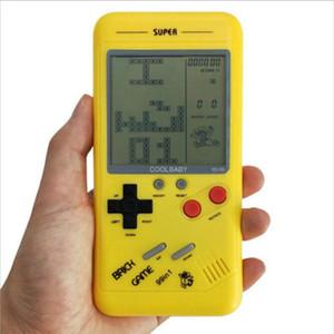 1 ADET Bulmaca küçük el oyun konsolu makinesi Tetris oyun makinesi çocuk öğrencileri klasik nostalji
