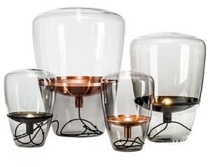 Современные Nordic Style Glass Table Lamp Модельер стекла Свет стола для декора Светильники Светильники для ванной комнаты дома Освещение TA076