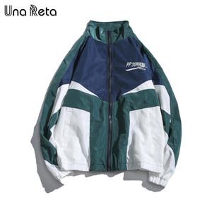 Una Reta хип-хоп ветровка куртки мужчины осень новые поступления повседневная вышивка уличная одежда пальто старинные шить куртка пальто