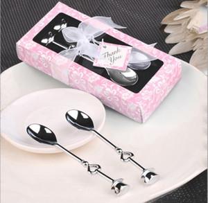 2 pezzi / set A forma di cuore Amore caffè tè Misurino Cucchiaio Decorazione amante Regalo Set da tavola in acciaio inossidabile