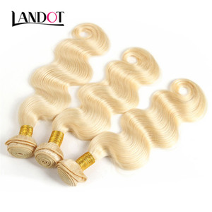 9A Bleach Blonde Couleur 613 # Brésilien Cheveux Vierges Weave Bundles Vague de Corps Péruvien Indien Malaisien 100% Extensions de Cheveux Humains Peut être Teint