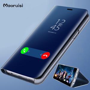 Clear View Smart Mirror Phone Case para Xiaomi Redmi 5 Plus Note 5 5A 4X para Xiaomi 8 SE 6 6X cubierta trasera de cuero