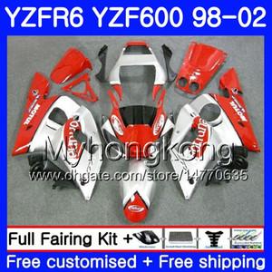 Cuerpo para YAMAHA Fortuna plata caliente YZF R6 98 YZF600 YZFR6 98 99 00 01 02 230HM.16 YZF 600 YZF-R600 YZF-R6 1998 1999 2000 2001 2001 2002