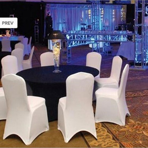 Wholesale 100pcs Universal Polyester Spandex Wedding Chair Covers for Weddings Banquet Folding Hotel Decoration,white