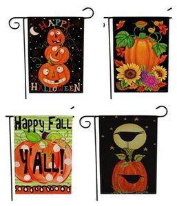 halloween Banner Flags Gartendekoration flagge halloween wohnkultur 47 * 32cm zweiseitig bedruckt für weihnachten hängenden flagge