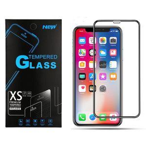 Для iPhone 11 Pro Макс XR XS Full Glass Black Hard Край 9Н 3D закаленное Glas экран протектор для iPhone 6 7 8 плюс Samsung A20 A50