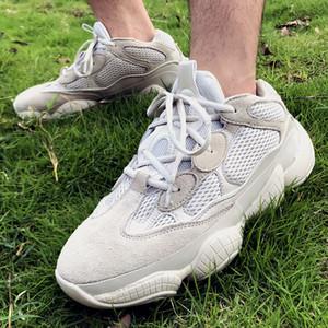 Desert 500 Desert Rat calçados corrida casual para homens mulheres cinza claro Kanye West Sapatilhas bottms amarelo suave onda shoer corredor com Box