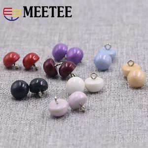 Meetee 10mm bonbons Boutons De Couture Rondes pour chemise Pearl attache pour enfants pull Vêtements Accessoryy DIY Apparel Tool