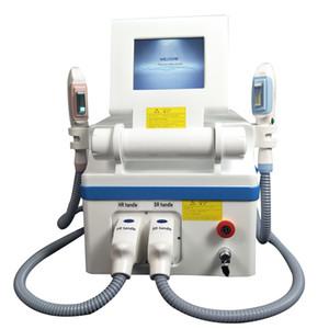 deux handpieces 360 magnéto optique OPT IPL rajeunissement de la peau SHR machine d'épilation