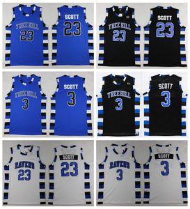 Para hombre de una colina del árbol RAVENS 23 camisas de Scott Nathan Lucas 3 de Scott jerseys del baloncesto barato One Tree Hill película cosido baloncesto