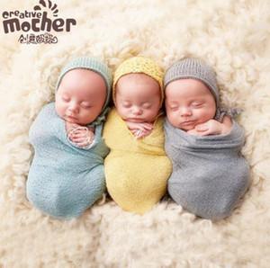 Bebê Fotografia Adereços cobertores Infantil Algodão Recém-nascido Tricô Envoltório de Malha cobertor Swaddling Nursery Bedding Sleepsacks Lenços