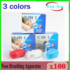 Mini dispositivo anti-ronquidos Ventilación congestión nasal Exhalación efectiva Aliviar aire PM2.5 Limpiar el aparato nasal L3 100pcs ZY-ZH-1