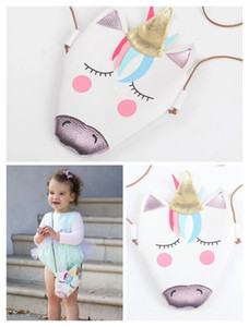 Child Kids Shoulder Bags Unicorn Baby Girls Messenger Bag Coin Party Accessory PU Cloth Cartoon Cute Unicron Mini Crossbody Bags 14196