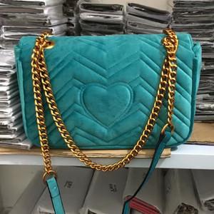 Caldo di modo di vendita Borse a tracolla donne scamosciata Velvet Chain Crossbody borse del sacchetto del progettista della borsa femminile