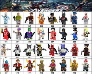 Wholsale Super hero Mini Figuras da Marvel Avengers DC Liga da Justiça Mulher Maravilha Doctor Estranho Pantera Negra blocos de construção presentes para crianças