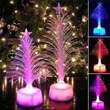 HOT LED árbol de navidad Decoración Luz Mini Árbol de Navidad Lámpara de Luz Nocturna Colorida decoración del hogar Cambio de Color