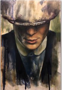 Peaky Blinders Cillian Murphy Peint À La Main HD Imprimer USA Nouvelle Émission De Télévision Série Figure Art Peinture À L'huile Sur Toile, Décor À La Maison Mur Art p351