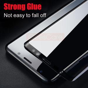 Nouveau 5D Plein Verre Trempé Courbé Pour Samsung S8 S9 Plus Protecteur D'écran Pour Samsung Galaxy Note 8 S7 Bord A8 2018 Film de Protection
