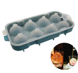 Novo Design 1pcs 8 celular Ice Cream Pop molde de silicone Ice Cube Bola Mold Esfera de Gelo formas arredondadas Cubo de bola Criador Dia 4 0,5 centímetros