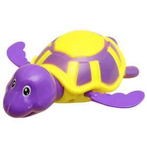 Bebek Çocuk Plastik Kaplumbağa Banyo Oyuncak Bebek Yüzen Kaplumbağa Zincir Clockwork Dabbling Oyuncak Sevimli Karikatür Banyo Oyuncak