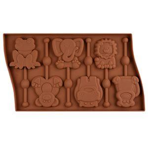 Approvisionnements alimentaires Niveau 6 Même modèle de sucette de gelée de silice animale Lion comme modèle de grenouille singe chocolat