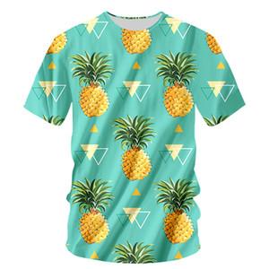 Moda Fruta Engraçado T-shirt Dos Homens Tshirt 6XL Abacaxi Laranja Impressão Harajuku Tops Tee Casual Dos Homens de Manga Curta 3D Camiseta