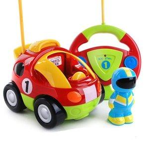 새로운 디자인 어린이 만화 원격 제어 자동차 경주 헬로 키티 도라에몽 아기 장난감 음악 자동차 라디오 제어 Rc 자동차