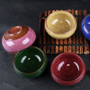Glace en céramique pot Crack petit bol d'huile essentielle de maquillage beauté bricolage visage du visage Masque Bowl F1451 expédition rapide