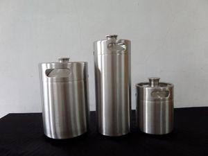 2L 64 oz Mini birra in acciaio inossidabile Grower 64 once barile di brocca d'acqua contiene birra kegging attrezzature birra artigianale Homebrewing Home Brew