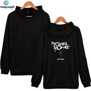 My Chemical Romance Sudaderas con cremallera Primavera Leer Imprimir Sudadera Moda Hipster Streetwear Hoodie Jacket My Chemical Romance