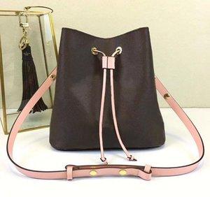 L129 sacos de ombro Noé saco de balde de couro mulheres marcas famosas bolsas de grife de alta qualidade flor impressão bolsa crossbody bolsa M4402