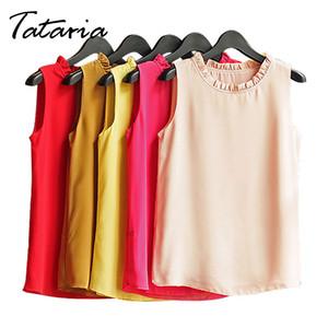 Chemise Sans Manches Femme Chemisier En Mousseline De Soie Chemise Femmes Printemps 2017 Blanc Noir Tops Des Vêtements Féminins Pour Femmes Femmes Tataria