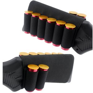 Shooting Gear Magazine Pack Mag Pouch Cartridges Holder Munición Recargar Tactical Buttstock Cover con 8 piezas Ammo Shell Carrier NO17-019