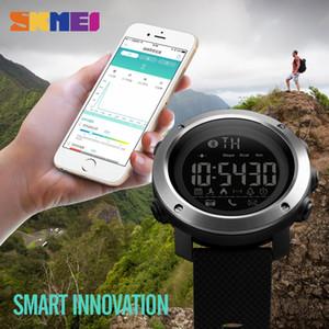 SKMEI 1285 Men Women Fashion Orologi Calorie Call Promemoria Bluetooth Remote Camera da polso Orologi da polso impermeabile