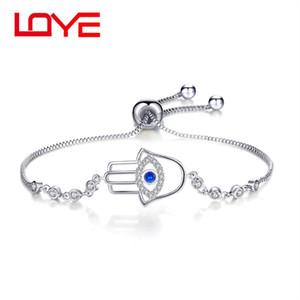 Bracelet en cuivre zircon incrusté d'oeil de démon de mode