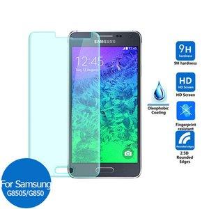 Para Samsung Galaxy Alpha G850F S4 Active I9295 A9 A9000 On5 2016 G5700 C5 C5000 Protetor de tela de vidro temperado 0.3mm 2.5D 9H Pacote de papel