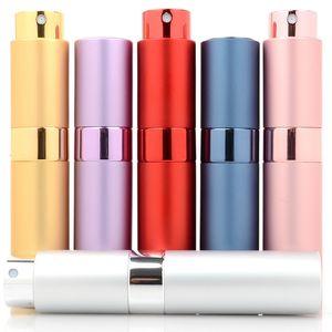Bottiglia di profumo rotabile da viaggio da 10ml Bottiglia di profumo riutilizzabile vuota con spray Atomizzatore di profumo portatile mini contenitore cosmetico