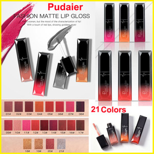 Makeup lip gloss Pudaier matte lip gloss Non-stick Cup Liquid lipstick 21 Colors Waterproof attactive lips Metallic Sexy Velvet Lipgloss
