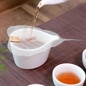 1 Adet Saf Bodhi Yaprak Çay Filtre Yaratıcı Kişilik Estetik imleri süsleme Hollow Out Yapraklar Kişilik Filtre Tercihi