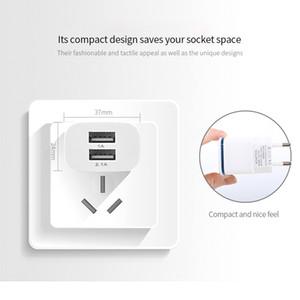 telefon için şarj Samung Işık LED AB Tak 5V 4A Duvar Adaptörü için iPhone için Hızlı şarj cihazı 2 USB Girişi Şarj