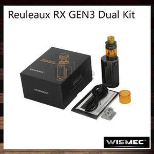 Wismec Reuleaux RX GEN3 Çift Gnome King Kiti 230 W RX GEN3 Çift Mod 1.3-inç Ekran 5.8 ml Gnome Kral Tank Reçine Damla İpucu ile 100% Orijinal