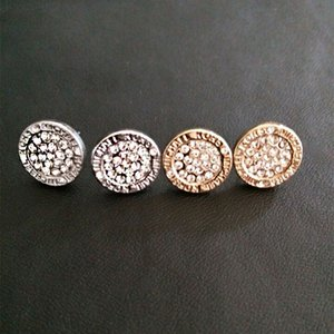 Свадебные серьги для женщин круглый камень Кристалл шпильки роскошные золотые посеребренные серьги женские серьги Серьги леди серьги девушка Стад ювелирные изделия