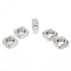 Wholesale Lots of 100pcs M4 M5 M6 M8 M10 M12 Stainless Steel A2 304 Square Nuts For Screws Bolt DIN557