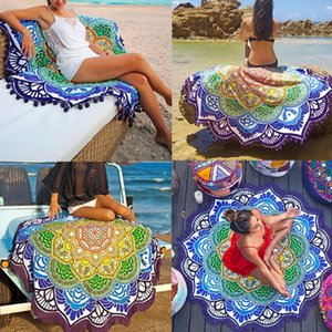 Bohemian Tapestry Totem Polygon Lotus Wall Hanging Sandy Beach Towels Yoga Mat Blanket Summer Sunscreen Shawl