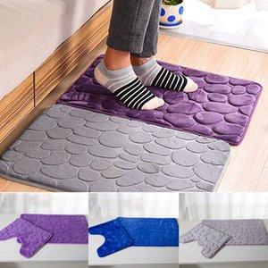 2 teile / satz PVC Mesh Verdicken Blended Boden Badematten Set Rutschfeste Badezimmer Toliet Teppiche 40 * 50 + 50 * 80 cm Wasseraufnahme Teppich